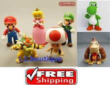 "NEW Nintendo 5"" Tall Super Mario Bros Luigi King Koopa Yoshi Toad Toy figure USA"