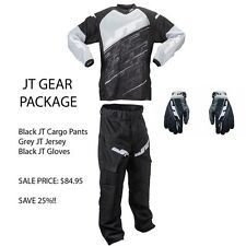 JT Paintball Player Gear Package Cargo Pants + Jersey + FREE Gloves - Grey