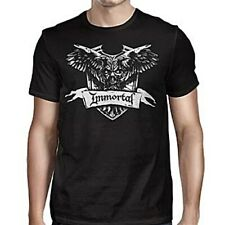 Immortal Crest Shirt M L XL XXL Black Metal T-Shirt Official Band Tshirt New