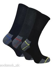 Heavy Duty Ultimate Work Socks for Work Boots coloured Heel + Toe Size 6-11 uk