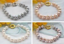 """X0373 8"""" 11mm round freshwater cultured pearl bracelet"""