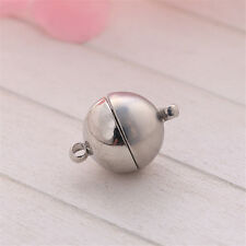 5/20/50pcs Silver/Golden Plated Strong Magnetic Round Ball Clasps 5mm
