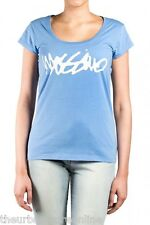 Mossimo Women's Script Cotton T-Shirt Blue Coral 50% Off