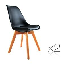 i.Life Dining Chairs NEW Set of 2 PU Leather Dining Chairs