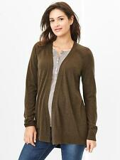 GAP MATERNITY EVERSOFT OPEN CARDIGAN SWEATER  ( brown)