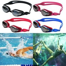 Adult Adjustable Waterproof Anti-Fog Mirror Swimming Goggles Portable SL