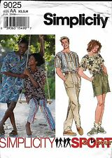 Simplicity Pattern 9025 Unisex Misses Mens Teens Pants Shorts Top  XS S M L XL