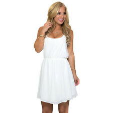 WOMENS CELEB SEXY MINI DRESS LADIES WHITE LACE SUMMER BEACH PARTY SUNDRESS White
