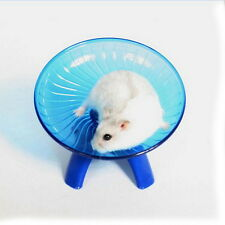 "Flying saucer exercise wheel hamster gerbil cage toy 6.5"" medium spinner pet U"