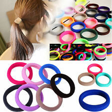 10x Colorful Elastic Rope Ring Hairband Women Girls Ponytail Holder Hair Band MA