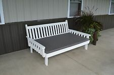 75 Inch Pine Indoor or Outdoor Traditional English Daybed -8 Stain Options