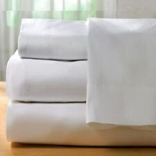 1 piece new white sheet 180 thread count cotton blend made in usa! all sizes!!