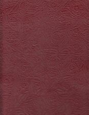 Silverstone Upholstery Leather Half Hide Floral Embossed Wine