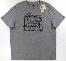 NWT Lucky Brand Indian Motorcycle Wrecking Crew Gray T-Shirt Choose Size