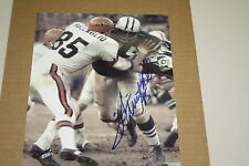 NY JETS WINSTON HILL SIGNED 8X10 PHOTO SUPER BOWL III RING OF HONOR