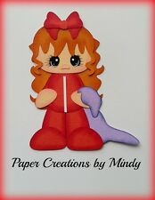 Craftecafe Mindy girl bedtime pajamas  premade paper piecing for scrapbook page