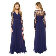 Sexy Women Lace Chiffon Evening Formal Party Cocktail Bridesmaid Long Maxi Dress