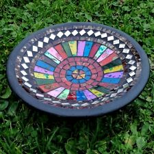 Mosaic Bowl Unique Coloured Glass Mirrored Fair Trade Hand Made In Bali
