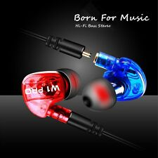 3.5mm in-ear Earphone HIFI Bass Stereo Sport Headphone Earbuds Headset With Mic