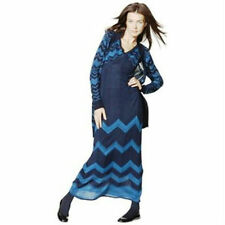 NEW! AUTHENTIC Missoni Knit Sweater Maxi Dress - Fully lined Navy Blue chevron