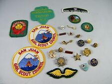 LOT OF VINTAGE GIRL SCOUT PATCHES, BADGES AND PINS SOME MAY NOT BE GIRL SCOUT