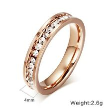 18k Rose Gold Plated Ring For Women Jewellery Fashion Stainless Steel RA31