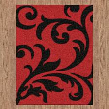 Saray Rugs Rugs NEW Majestic Carving Red 5003 Contemporary Rug