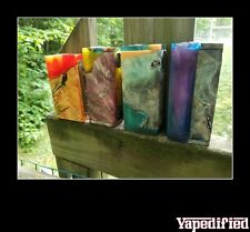 AUTHENTIC STABILIZED BURL HYBRID BOX MOD WITH MOSFET BY RARE EARTH VAPE CO.