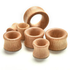 Organic Wood Double Flared Ear Plugs Tunnels Expander Stretcher Gauges 1PC