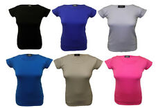Girls Kids Children Dance School T Shirt Gym Plain Short Sleeve Top Size 7-13