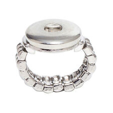 Wholesale Lots strech Adjustable Ring Fit 18mm Snaps Buttons size free SR18-5