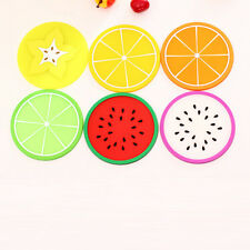 2X Giant Novelty Silicone Fruit Coasters Tea Cup Cushion Drinks Placemat Holder0