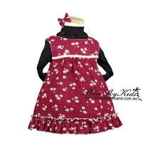 NEW Toddler Baby Dress Cotton Corduroy Floral with Applique Flowers Size 000-4