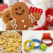 New Fashion Plastic Cookie Cake Stamp Mold Set 7 Different Design Adorable Shape