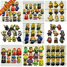 60styles Minions Despicable me Shoe Charms Decoration for kid Silicone Wristband