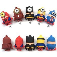 Flash Drive Usb 16GB 32GB 64GB Memory Stick Minion Super Hero Usb Flash Drive
