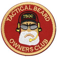"Tactical Beard Owners Club ""BREAD MAN"" PVC Velcro Armband Morale Rubber Patch G8"