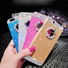 3D Bling Glitter sparkle Crystal Rhinestone Hard Case Cover for iPhone SE 6 6s +