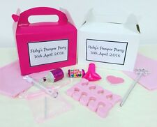PERSONALISED PRE FILLED GIRLS PAMPER PARTY BIRTHDAY BOXES FAVOURS