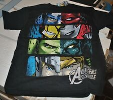 Marvel Avengers Kids Black T-Shirt / Mad Engine / Iron Man / Captain America