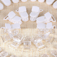 Lot 50 of Clear/White KAM Plastic Baby Dummy Clips Suspender Pacifier Soothers