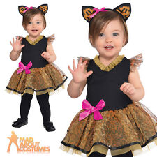 Baby Cutie Cat Costume Toddler Leopard Fancy Dress Outfit New