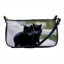 Cute Schipperke Shoulder Clutch Handbag & Mini Coin Purse - Puppy Dog