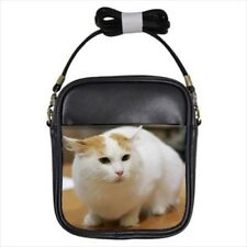 Turkish Van Leather Sling Bag & Women's Handbag - Cat Kitten