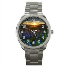 Lupine Blooms Stainless Steel Watches
