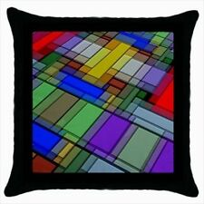 Futuristic Patterned Throw Pillow Case