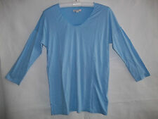 GAP MATERNITY SCOOP NECK  3/4 SLEEVE  SHIRT  T-SHIRT  TOP  (blue)