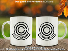 Dragon Ball z DBZ Retro Capsule Corp in Normal and Distress Style Coffee Mug