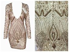 NEW SEQUINS MESH LACE FABRIC 51'' WIDE SOLD BY THE YARD SHINY FASHION DRESS GOWN