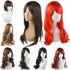 Women Lady Long Hair Wig Curly Wavy Synthetic Anime Cosplay Party Full Wigs New